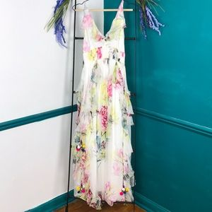 Love Sam Anthropologie Maris floral maxi dress